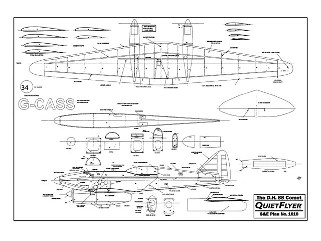 DH 88 Comet - plan thumbnail image