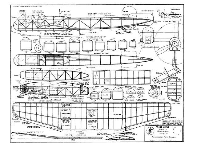 Arado AR240 (oz1025) by Lubomir Koutny from Aeromodeller 1992