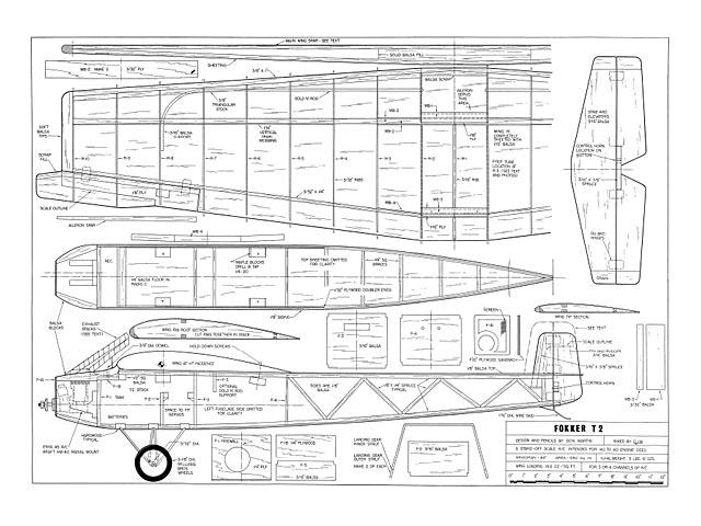 Fokker T2 - plan thumbnail image