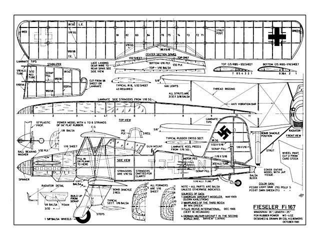 Fieseler Fi-167 - plan thumbnail image