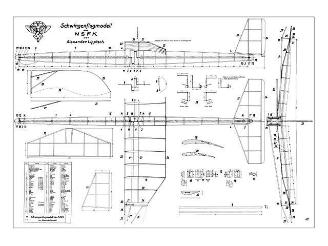 Schwingenflugmodell - plan thumbnail image