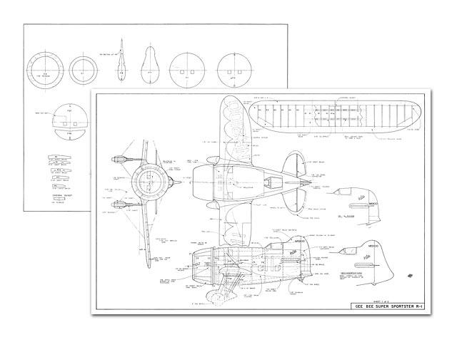 Gee Bee Super Sportster R-1 (oz10378) by Sid Morgan