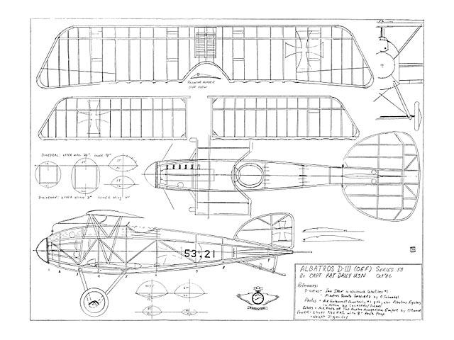 Albatros D.III - plan thumbnail image