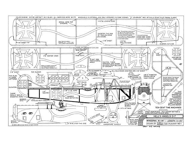Hells Angels Fokker D-7 - plan thumbnail image