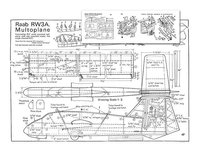 Raab RW3A Multoplane (oz10429) by Unknown from RCME 1968