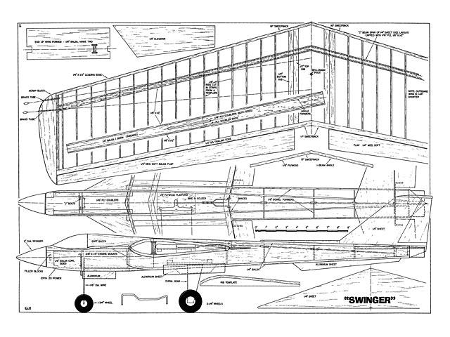 Swinger (oz10432) by Jack Sheeks from Flying Models 1967