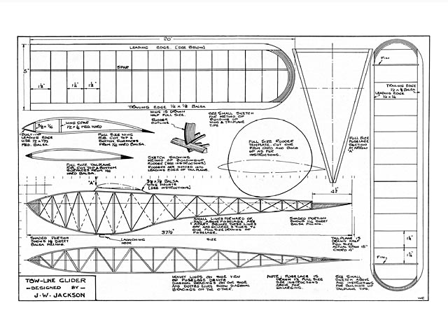 Tow-line Glider - plan thumbnail image