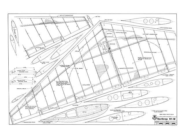 Northrop N-1M - plan thumbnail image