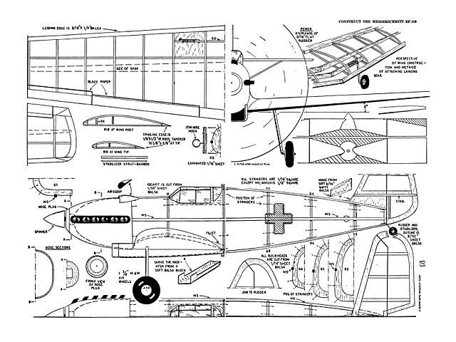 Messerschmitt bf-109 - plan thumbnail image
