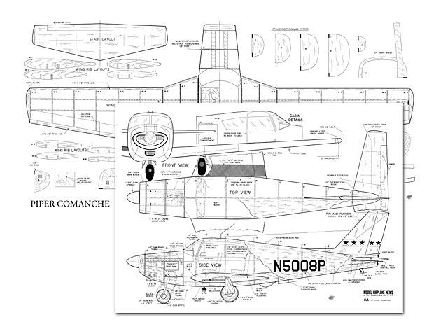 Piper Comanche - plan thumbnail image