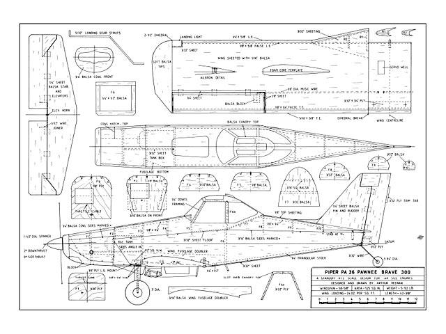 Piper PA-36 Pawnee Brave 300 - plan thumbnail image