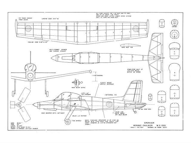 Morane-Saulnier MS 1500 - plan thumbnail image