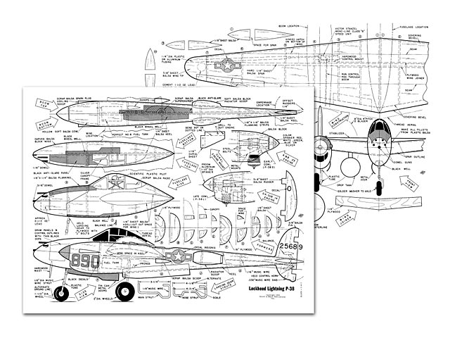 Lockheed P-38 Lightning - plan thumbnail image