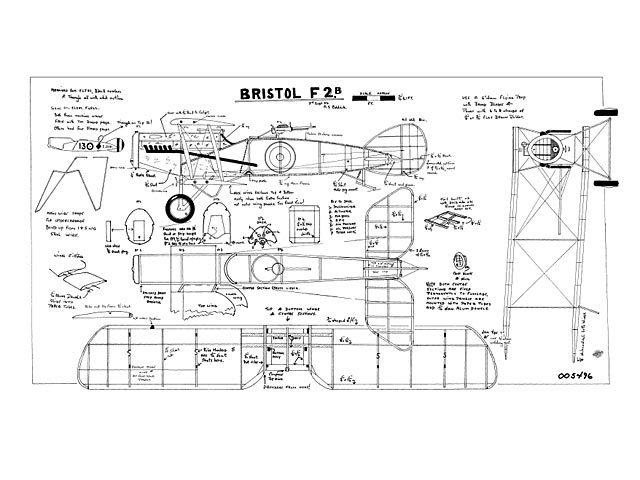 Bristol F2B (oz10704) by NS Coldrick 1984