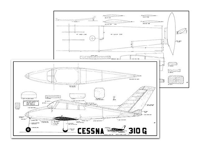 Cessna 310 - plan thumbnail image