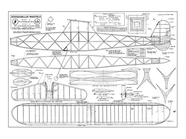 Aeromodeller Wakefield - plan thumbnail image