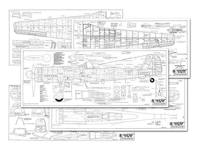 Focke Wulf Ta-152H - plan thumbnail image
