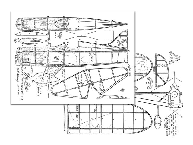 Gee Bee Model D Sportster - plan thumbnail image
