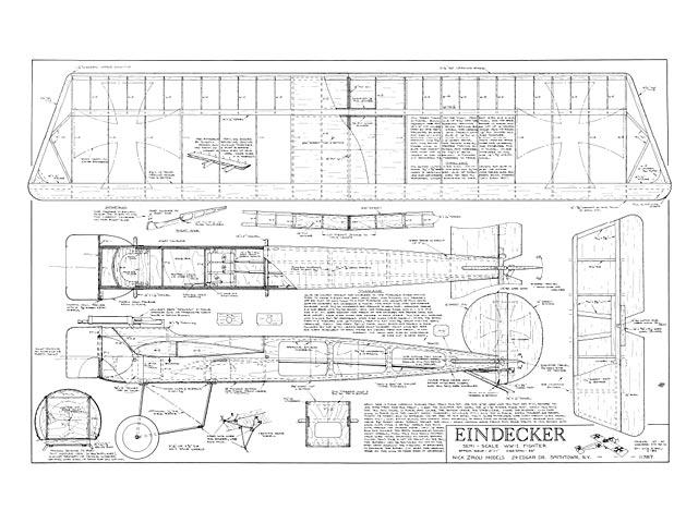 Fokker Eindecker - plan thumbnail image