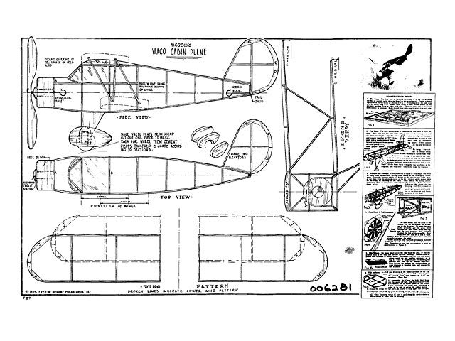Waco Cabin Plane - plan thumbnail image