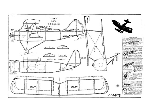 Vought V-100 Corsair - plan thumbnail image