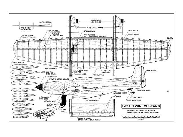 F-82 Twin Mustang - plan thumbnail image