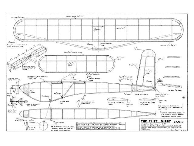 Elite Nippy (oz10987) from Elite Model Airplane 1939