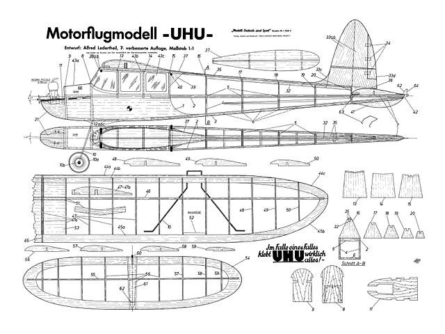 UHU (oz11020) by Alfred Ledertheil from Modell-Technik und Sport