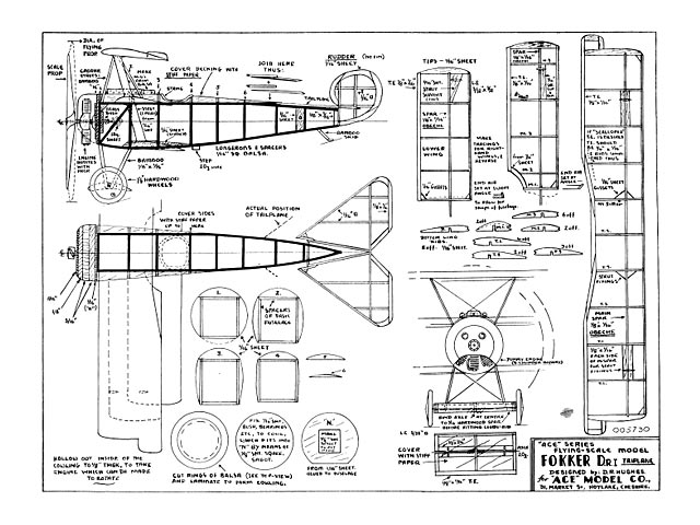 Fokker Triplane (oz11101) from Ace Model Co