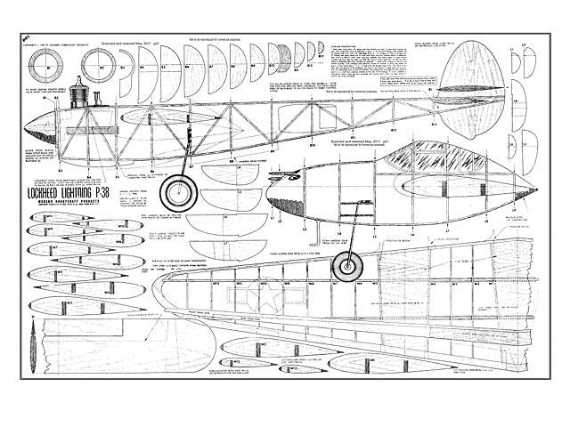 Lockheed Lightning P-38 - plan thumbnail image