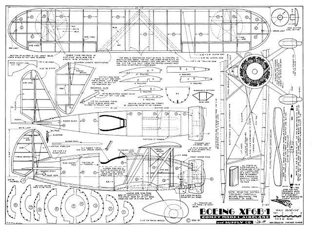 Boeing XF6B-1 - plan thumbnail image