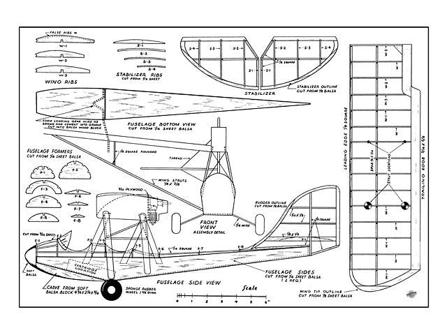 Curtiss Junior - Aubrey Kochman - Air Trails - May 1948 - 34in