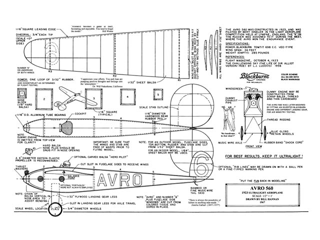 Avro 560 (oz11683) by Bill Hannan 1967