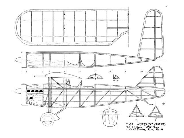 ANF Les Mureaux 115 (oz11832) by Hurst Bowers 1964
