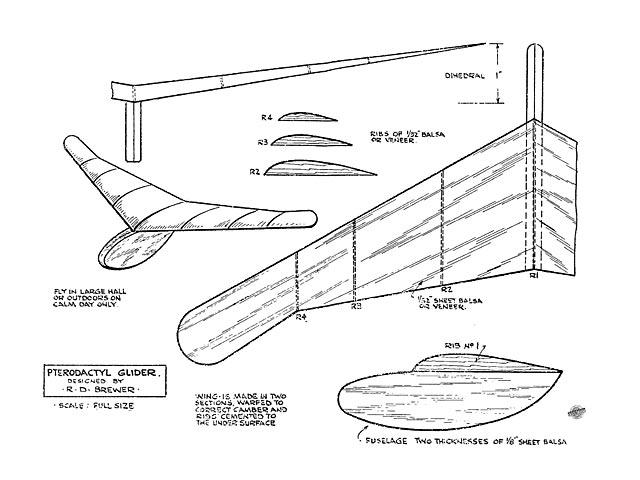 Pterodactyl Glider - 12161