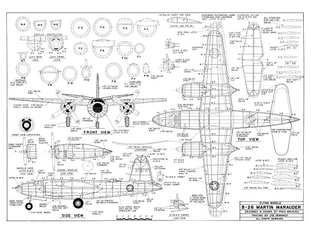 b 26 martin marauder plan free download outerzone rh outerzone co uk B-26 Bomber Martin B 26 Restoration