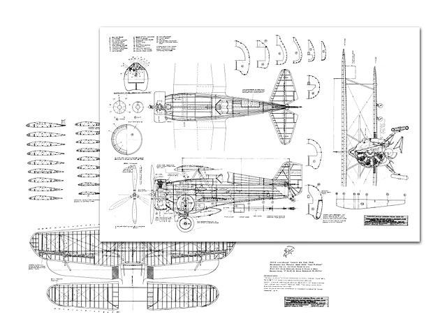 Curtiss Hawk BF2C-1 (oz12219) by CE Steinchak from Custom Scale Design 1976