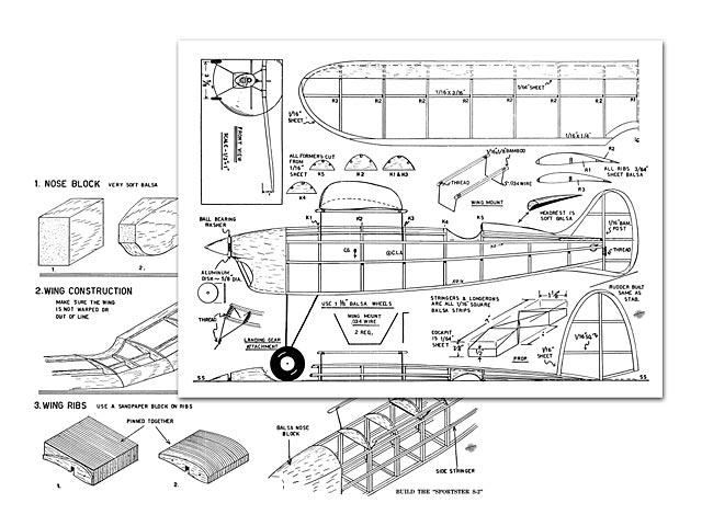 Baby Sportster S-2 - Sidney Struhl - Flying Aces - September 1939 - 20in