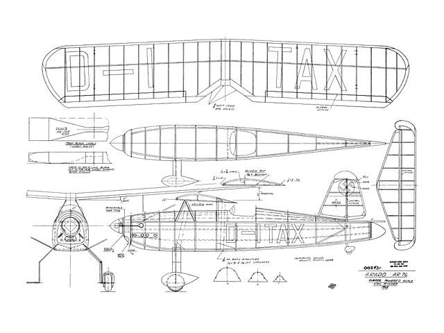 Arado Ar 76 (oz12277) by Ken Sykora 1965