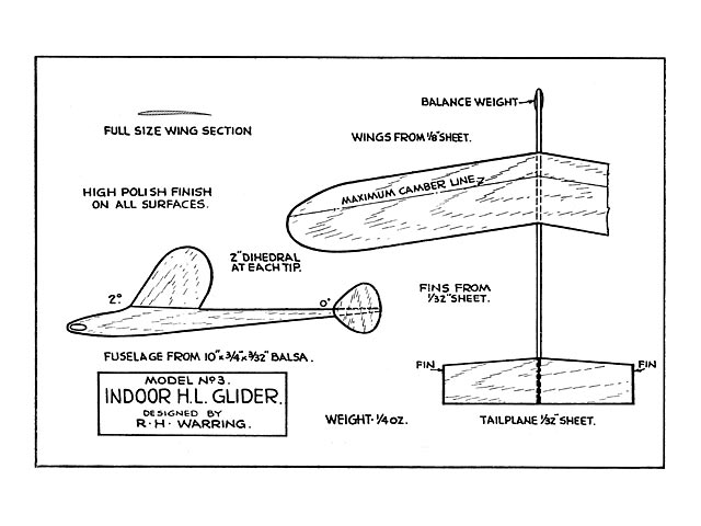 Model 3 (oz12346) by Ron Warring from Model Gliders 1945