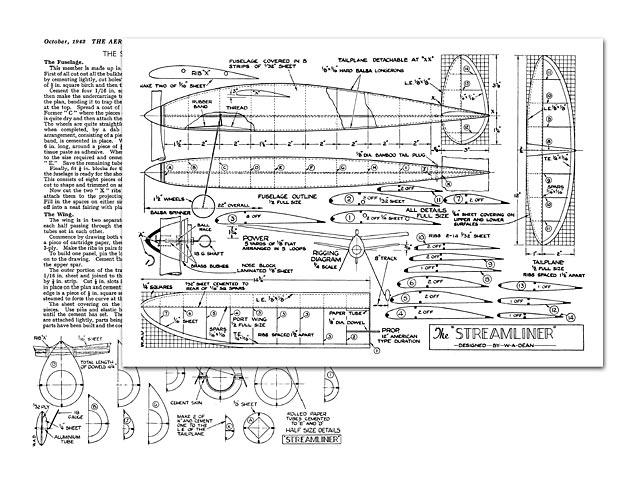 Streamliner (oz12751) by Bill Dean from Aeromodeller 1942