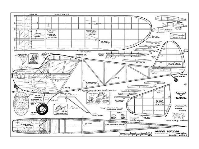 Aeronca Tandem (oz12762) by Ronnie Albert from Model Builder 1980