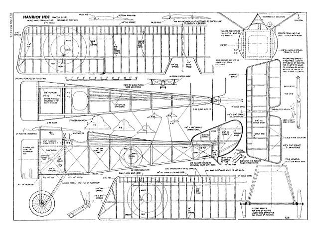 Hanriot HD-1 - plan thumbnail image