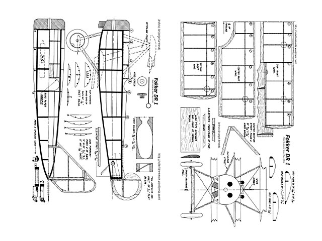 Fokker Dr1 - plan thumbnail image