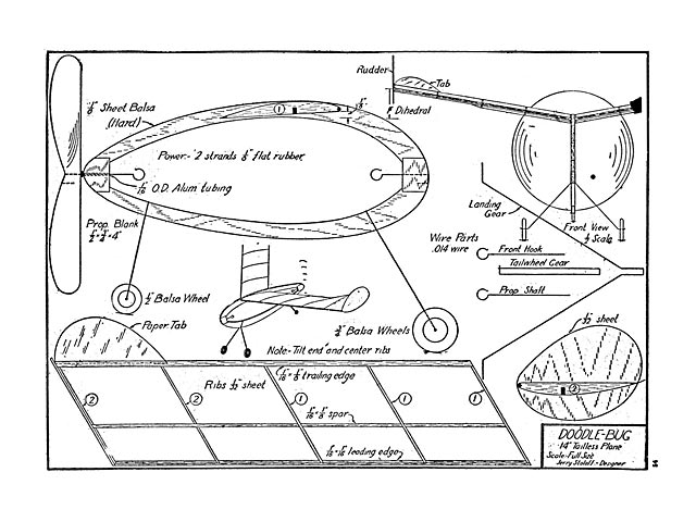 Doodle Bug (oz13166) by Jerry Stoloff from Flying Aces 1942