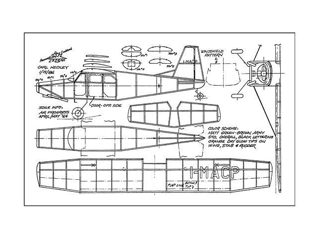 Aermacchi Lockheed LASA 60 (oz13265) by Carl Hedley from Model Builder 1989