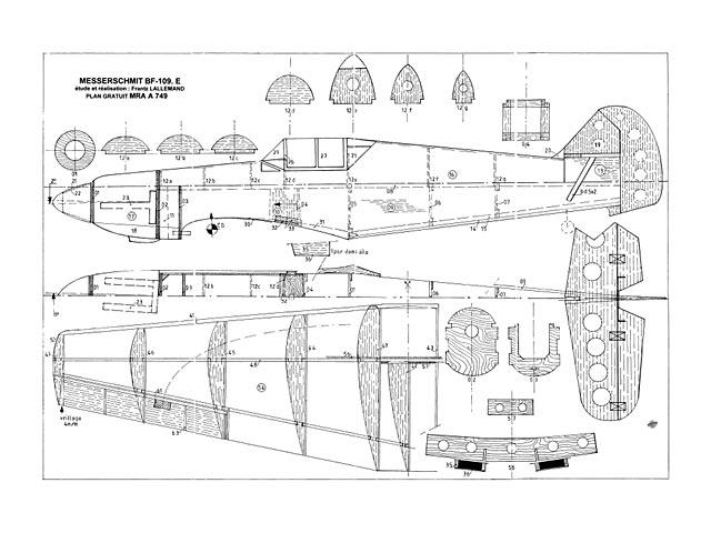 Messerschmitt Bf109E (oz13318) by Franz Lallemand from MRA 2002