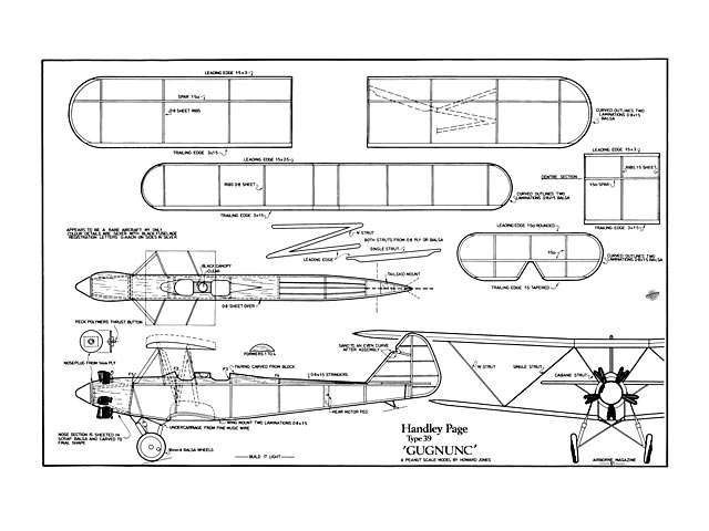 Handley Page Gugnunc (oz13320) by Howard Jones from Airborne 1982