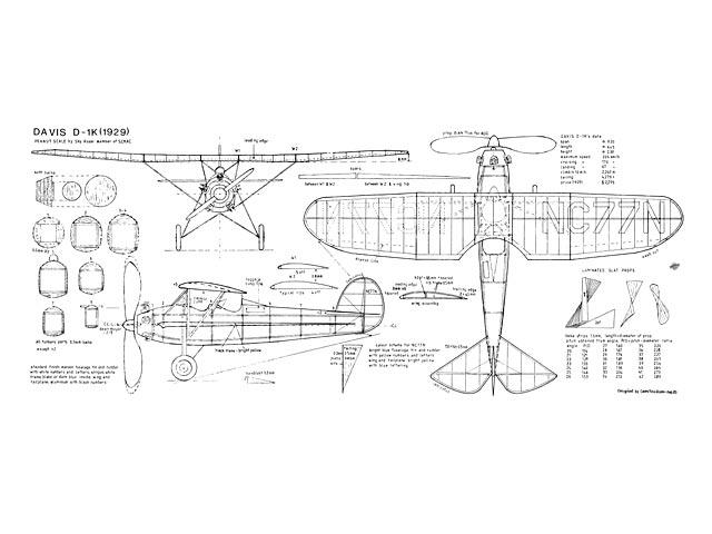 Davis D-1K (oz13330) by Celestino Rossi from Airborne 1983