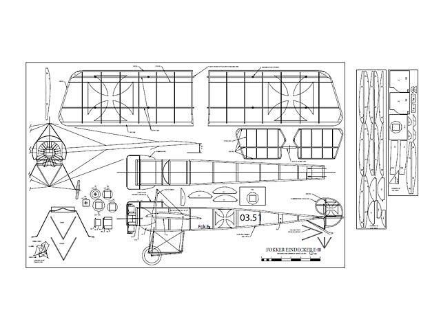 Fokker Eindecker EIII (oz13353) by David Collins 1999